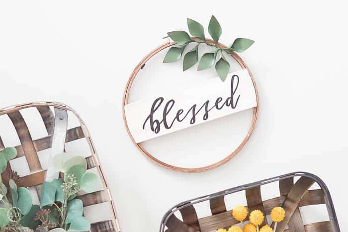 blessed hoop sign decor