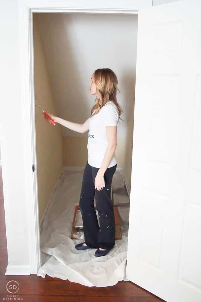 Paint a closet