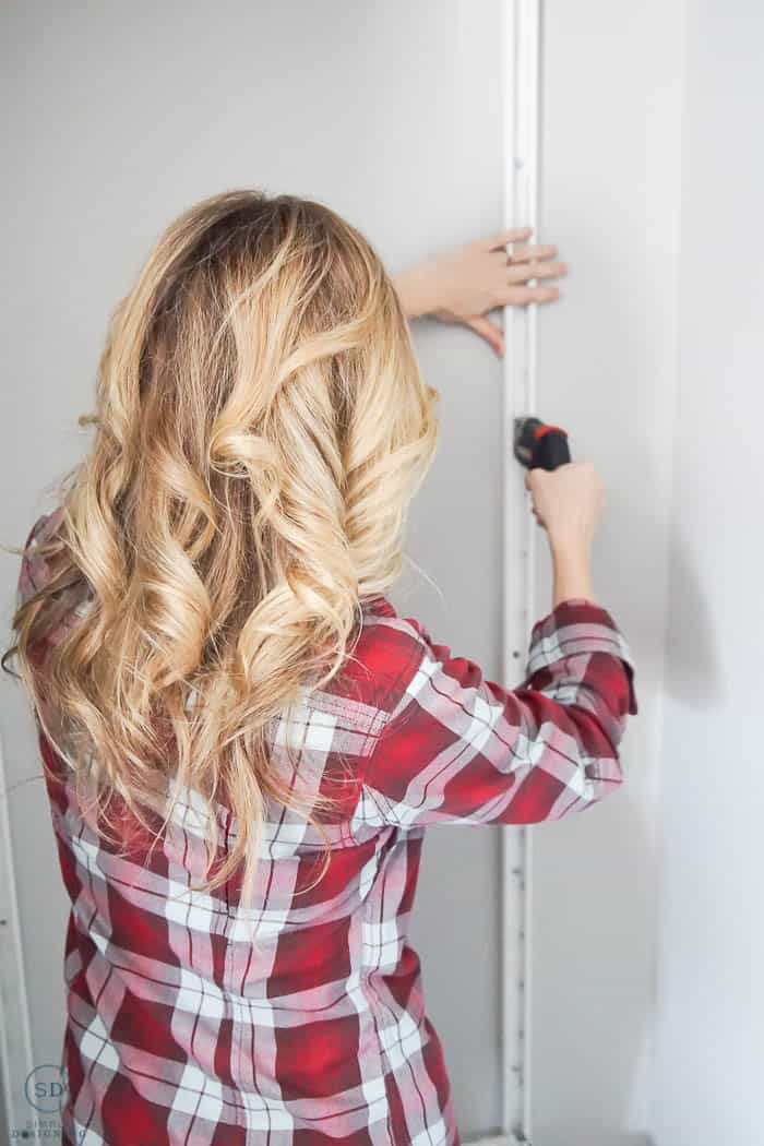 Install IKEA ALGOT Wall mounts