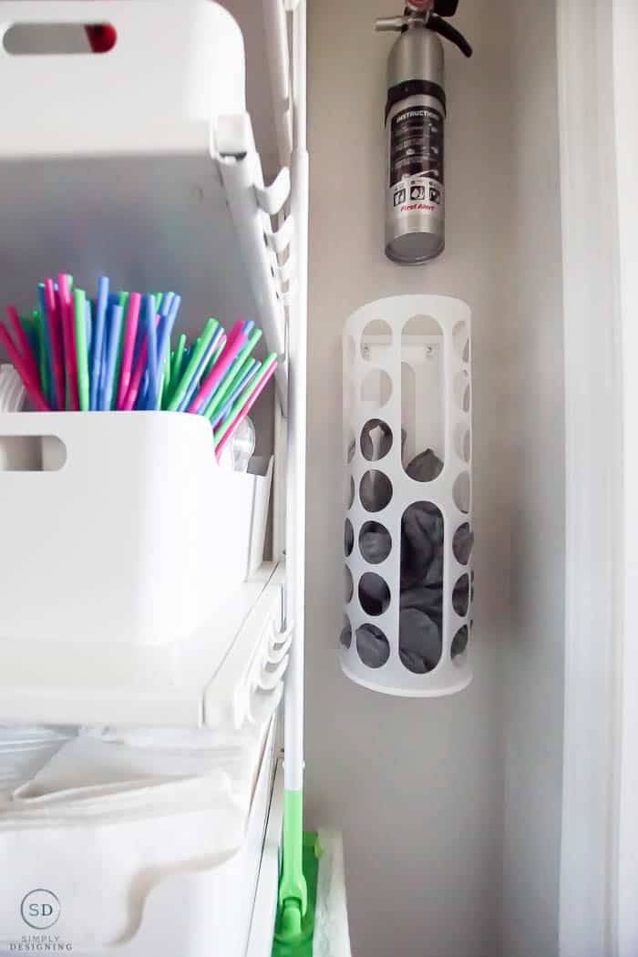 IKEA Organization with ALGOT - under the stairs closet
