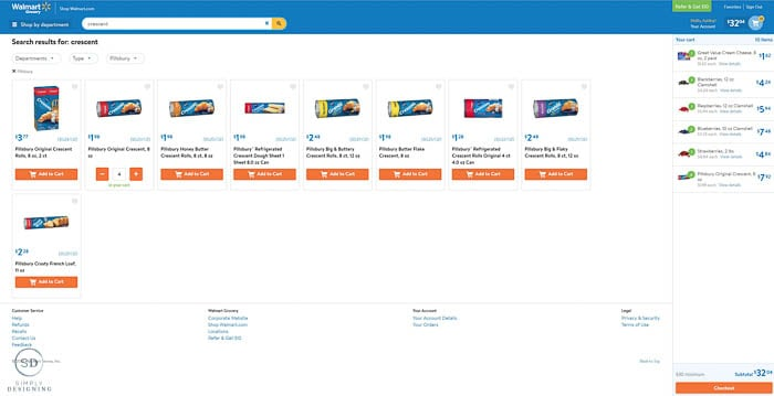 Online Ordering from Walmart 1