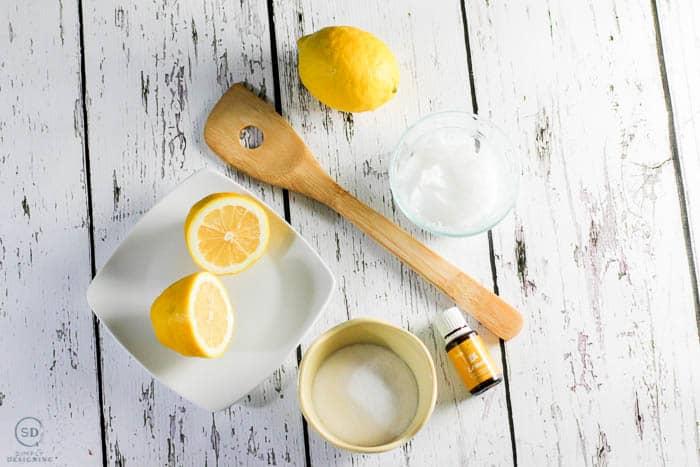 Lemon Sugar Scrub Recipe Ingredients