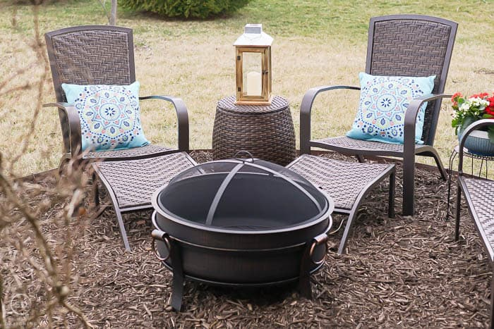 5 piece Adirondack chair set - outdoor living with an easy backyard fire pit