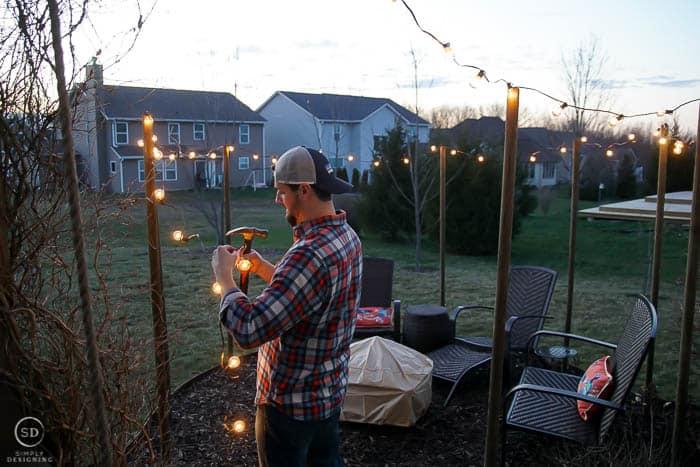 hang globe lights