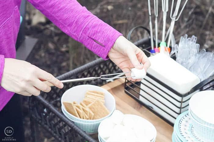 put marshmallow on stick