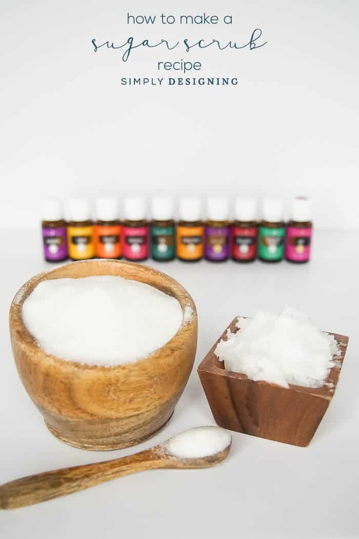 Sugar Scrub Recipe with Essential Oils