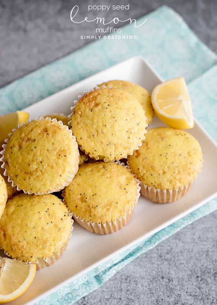 Delicious Poppy Seed Lemon Muffins
