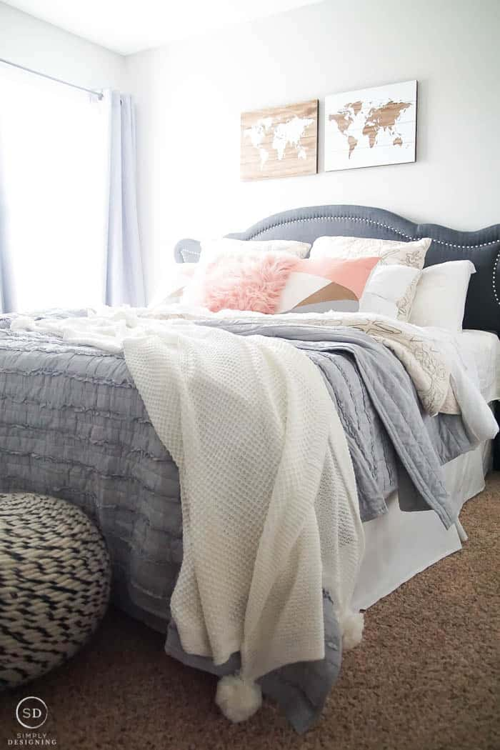 Guest Bedroom Makeover + Tips to Make a Guest Room Comfortable