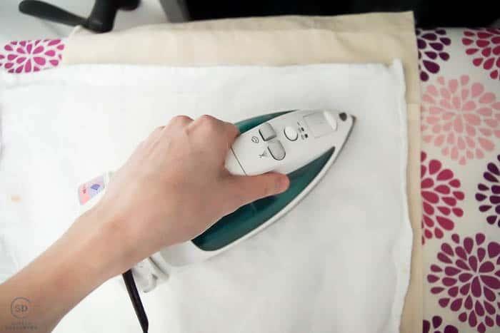 use an iron to apply heat transfer vinyl