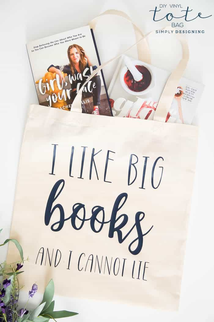 How to add vinyl to a tote bag for the library - diy vinyl tote bag - a cute library tote bag