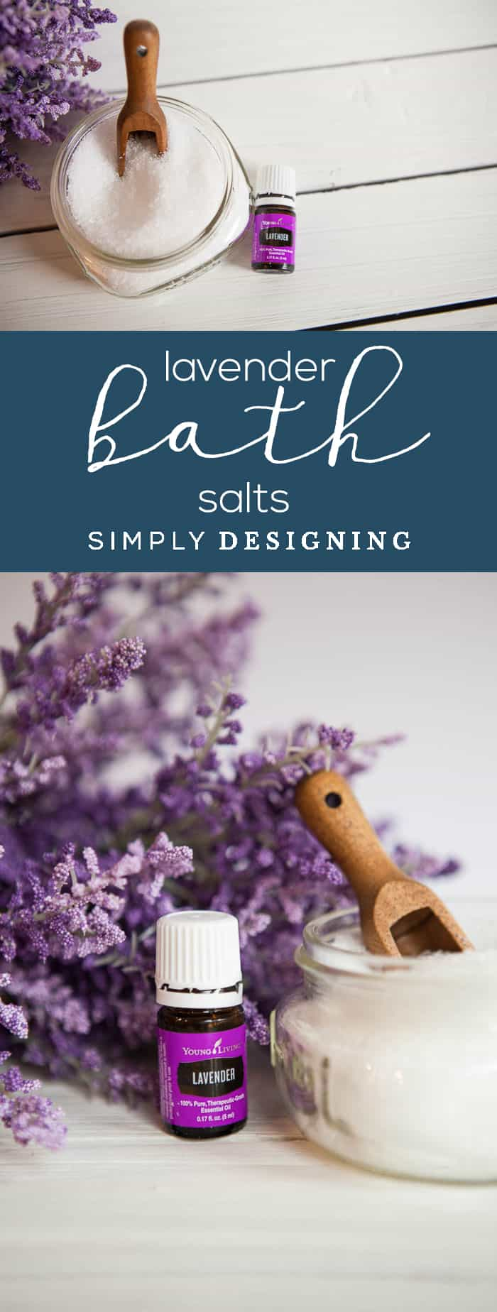 Lavender Bath Salts - this homemade bath salt recipe is so easy to make and will save you so much money too