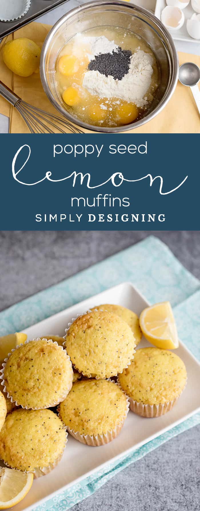Lemon Muffins with Poppy Seeds - just a few ingredents to make these delicious lemon poppy seed muffins