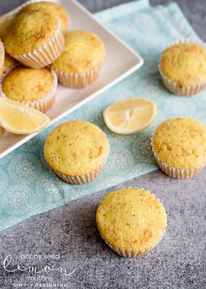 Poppy Seed Lemon Muffins
