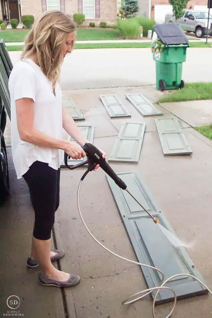 pressure wash shutters - power wash shutters