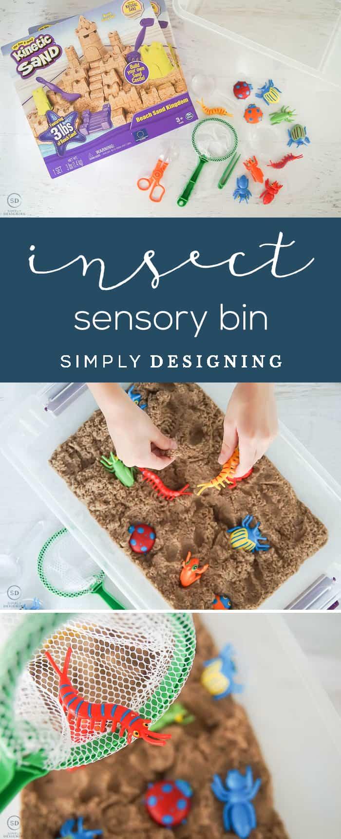 DIY Insect Sensory Bin - sensory activities - sensory activities for children - sensory play