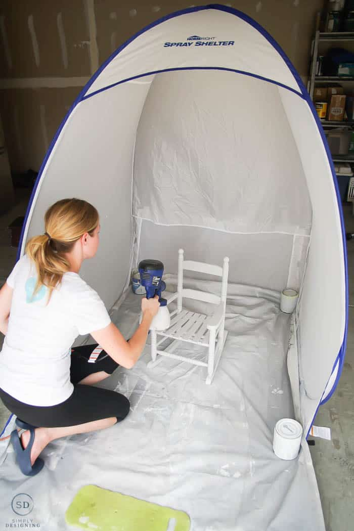 Use paint sprayer to paint furniture
