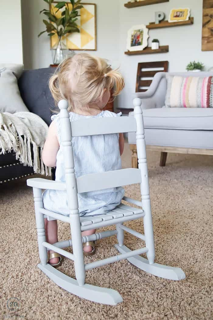 How to Repaint Furniture without Sanding - how to paint a rocking chair