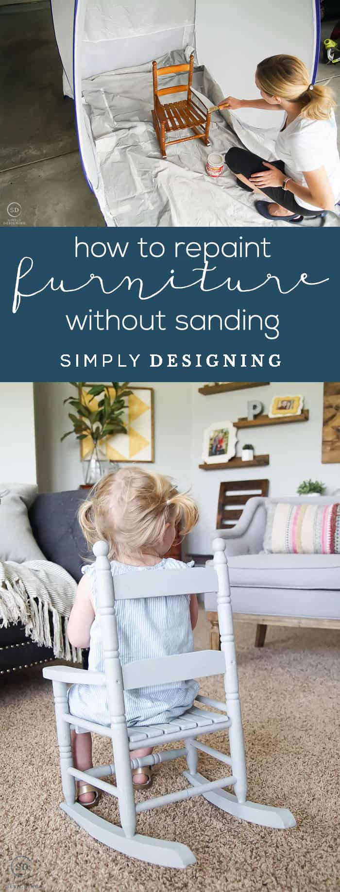 How to Repaint Furniture without Sanding - an easy way to refinish furniture