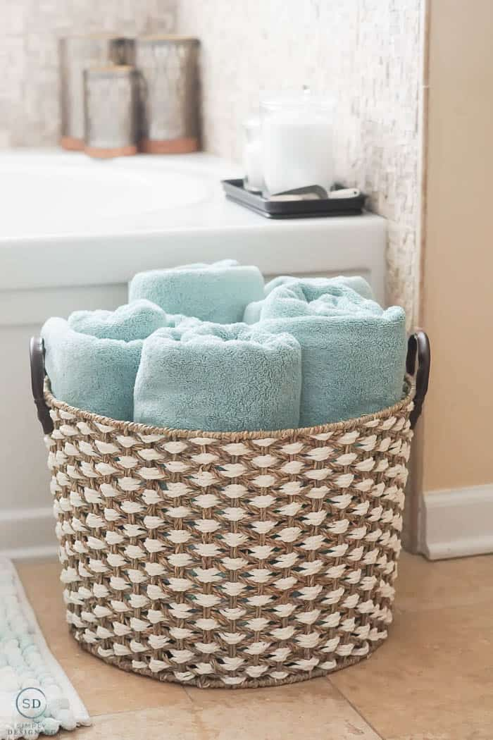 Basket with Towels in it