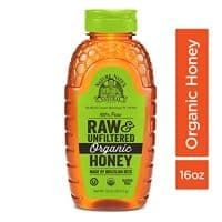 Nature Nate's 100% Pure Raw & Unfiltered Organic Honey; Made by Brazilian Bees and Packaged in a 16-oz. Squeeze Bottle; Enjoy Honey's Balanced Flavor and Wholesome Benefits, Just as Nature Intended