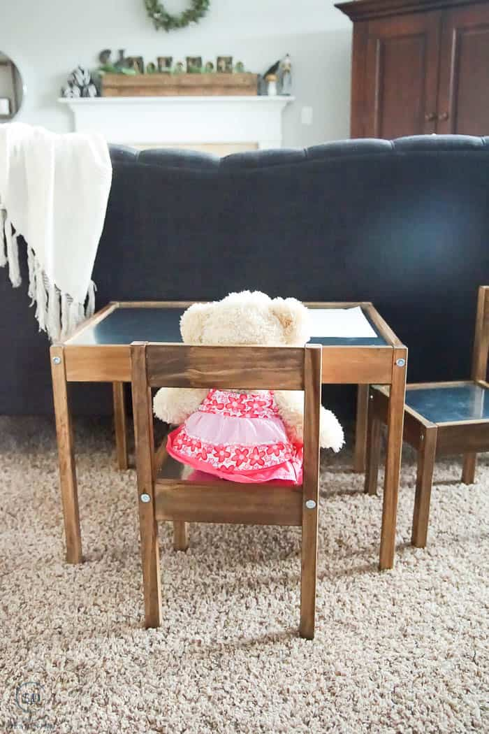 IKEA Hack LATT Table and Chairs