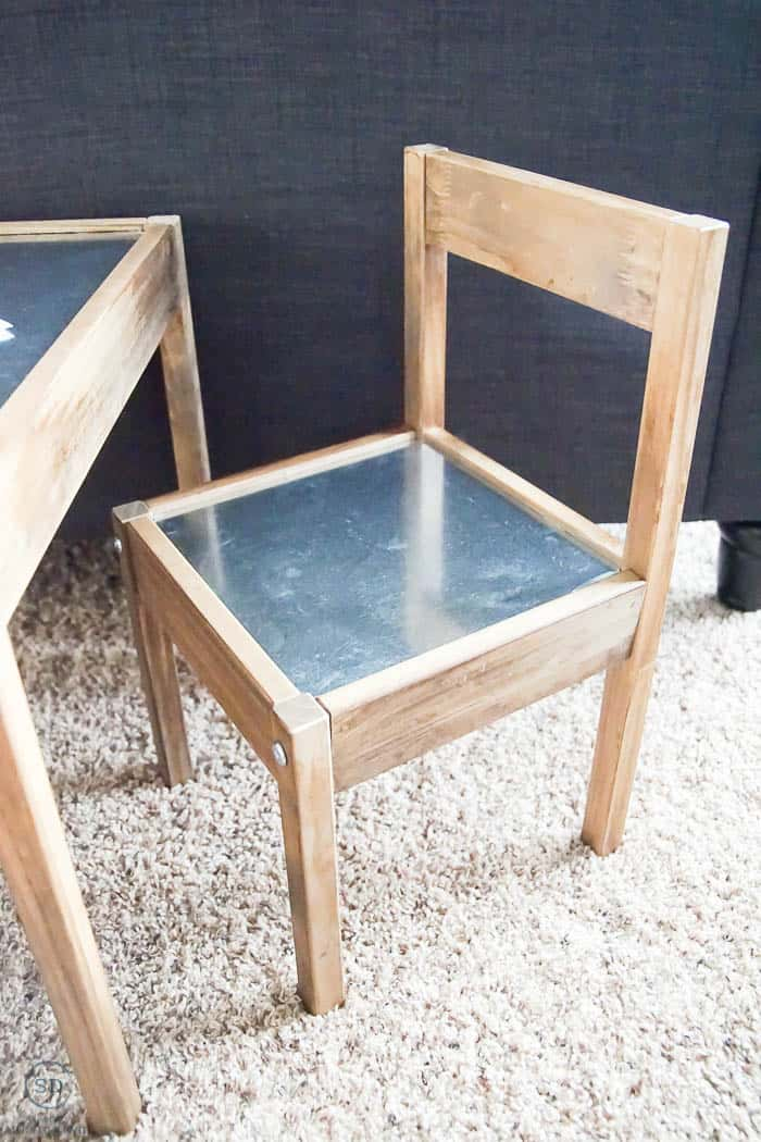 Industrial Kids Table and Chairs - Farmhouse kids table and chairs