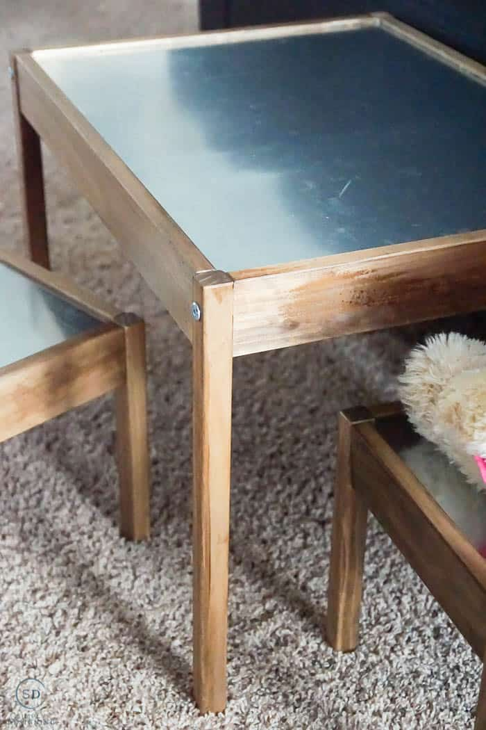 LATT Table and chairs from IKEA HACK