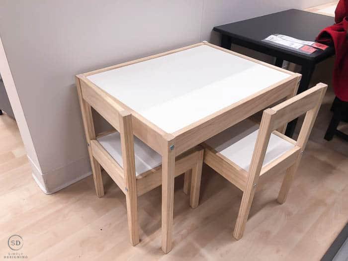 LATT IKEA Kids Table Hack - before-8463