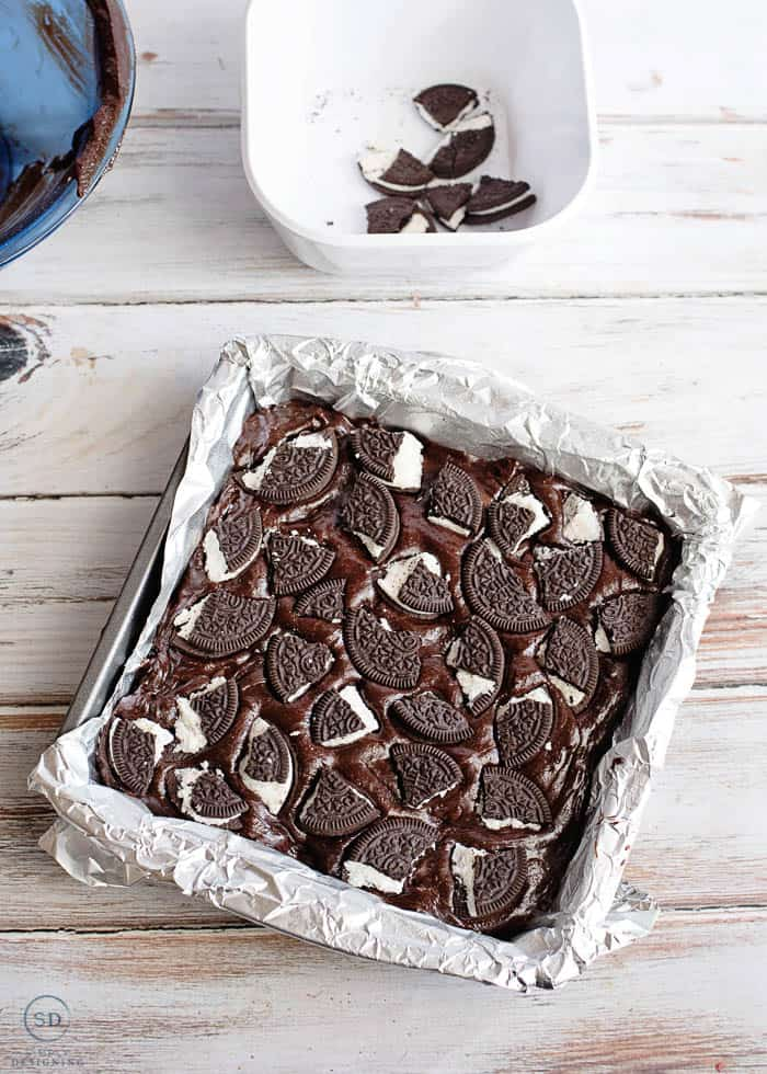 add Oreos to Brownie batter