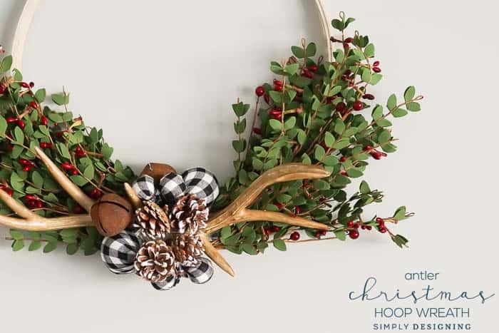 Antler Christmas Wreath