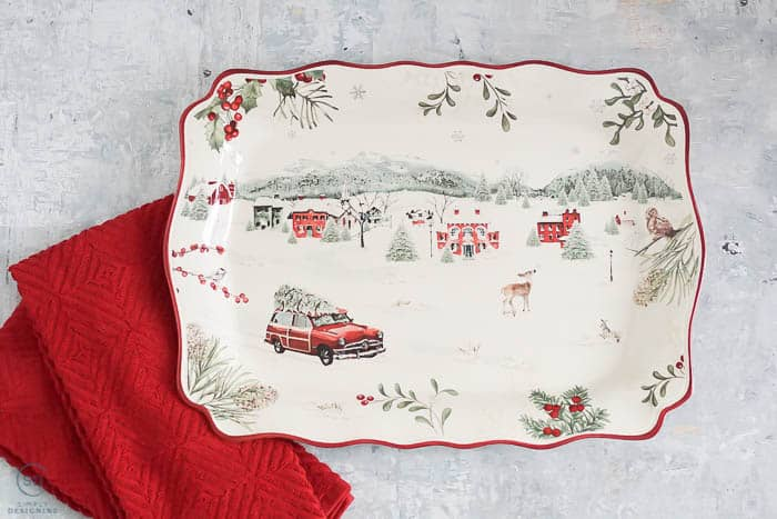 Christmas Gift Ideas Under $25 : holiday platter and kitchen towels