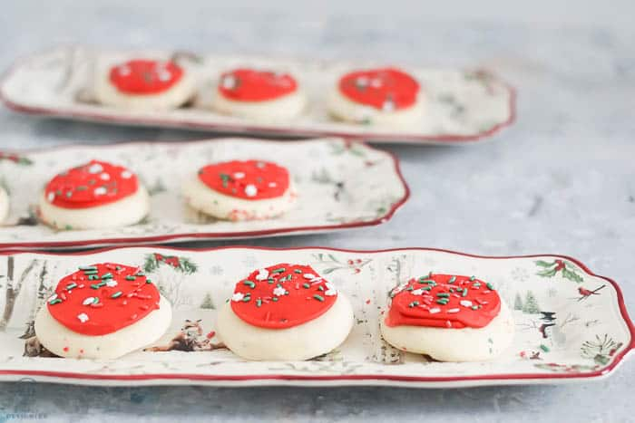Christmas Gift Ideas Under $25 : narrow holiday platter with cookies