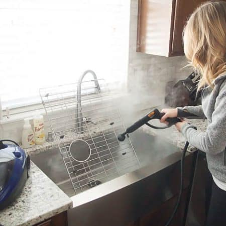 - How to Clean a Kitchen Sink Grid