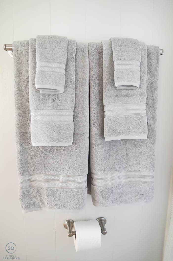 Gray towels