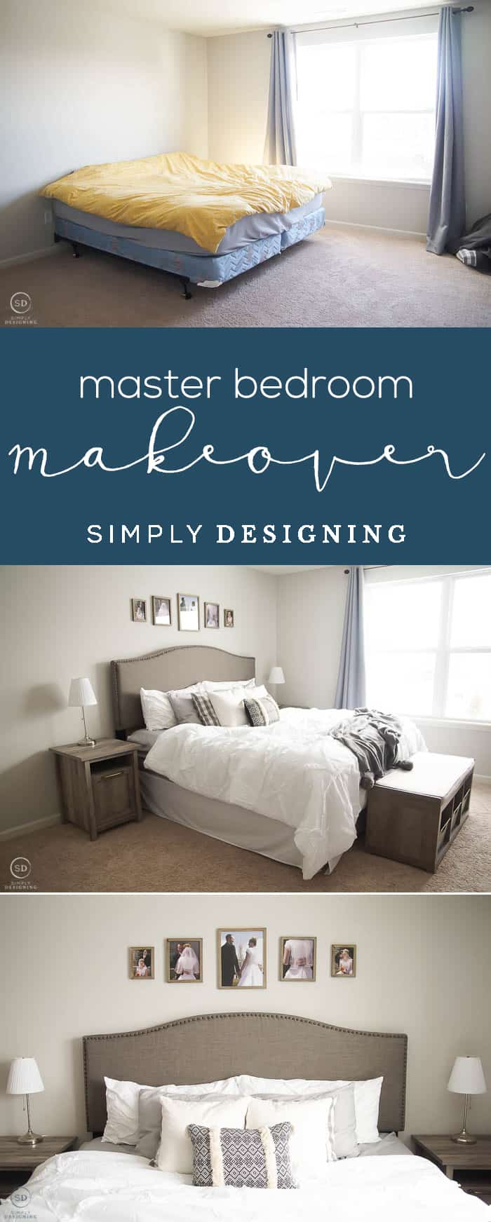 Incredible Master Bedroom Makeover - Before and After