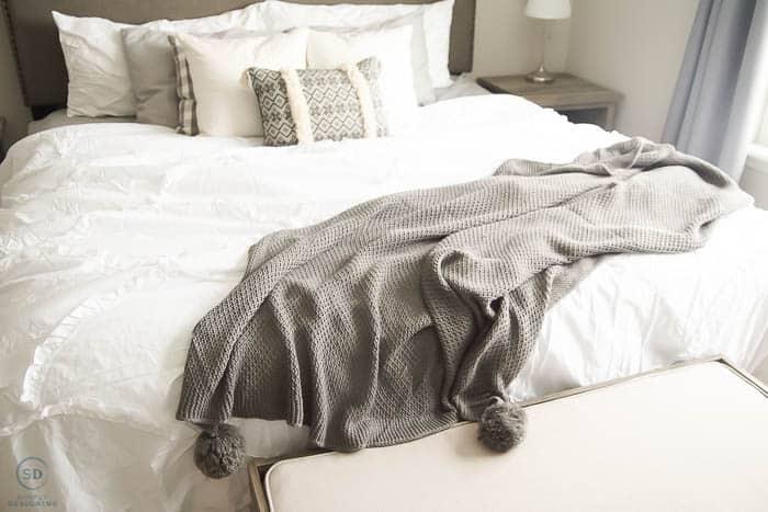 new bedding in master bedroom