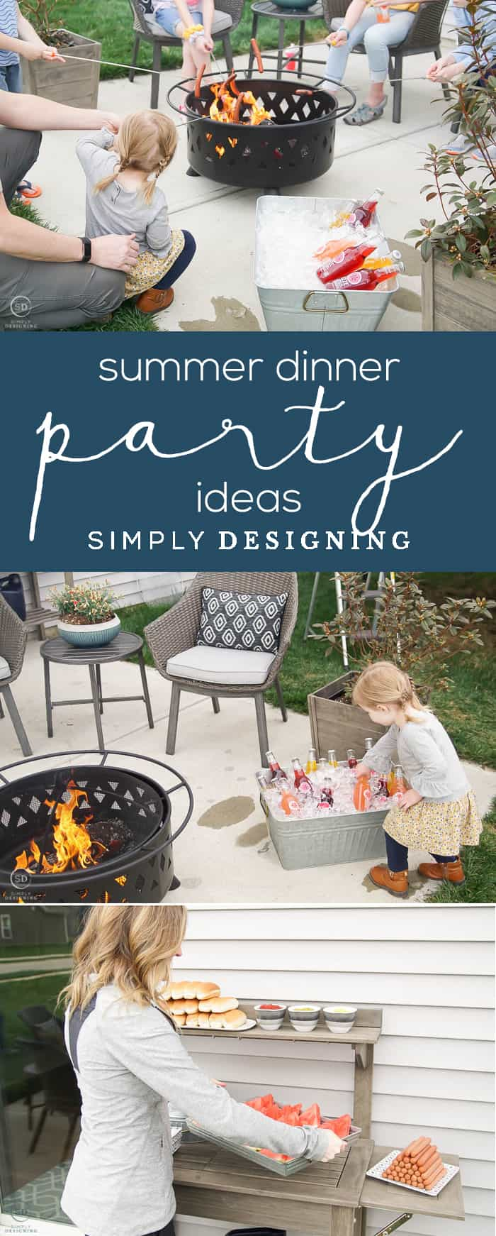 Summer Dinner Party Idea - these family friendly summer dinner party ideas are so fun and easy