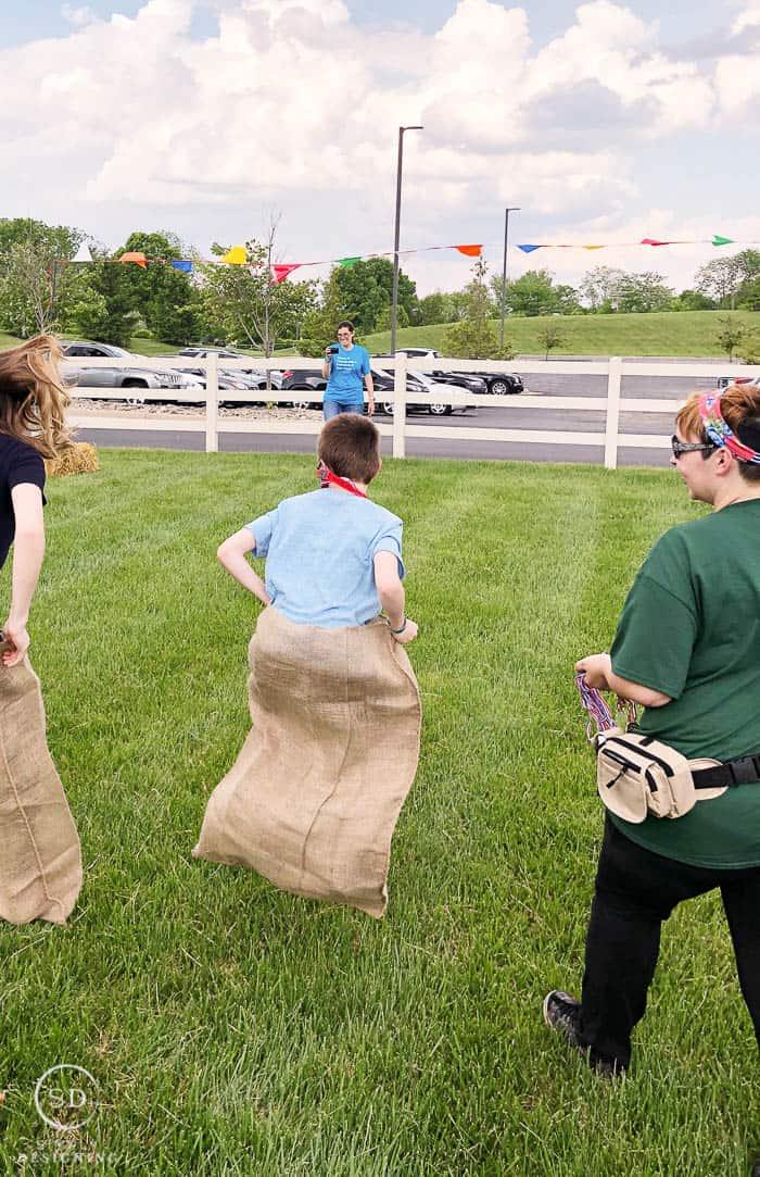 sack race