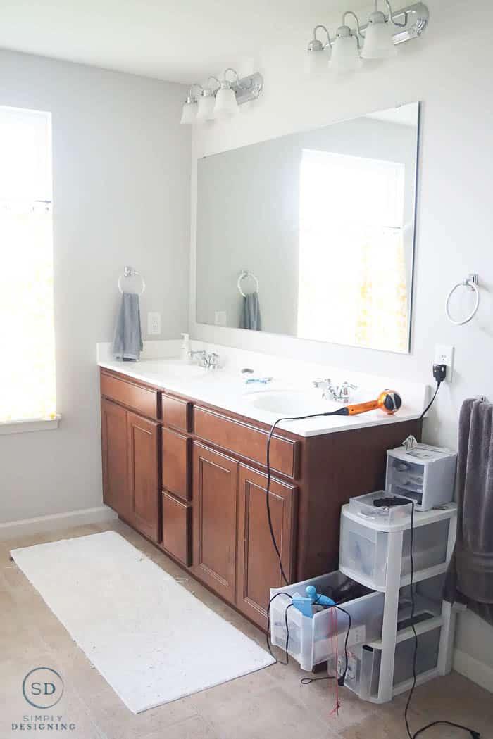master bathroom before makeover