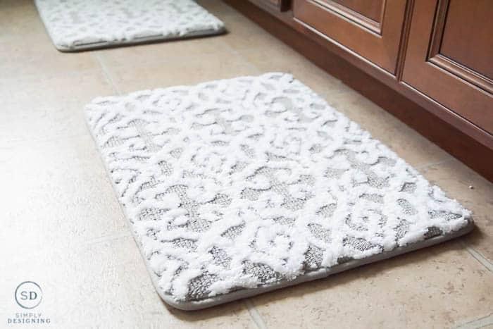 new memory foam gray and white bathroom rugs
