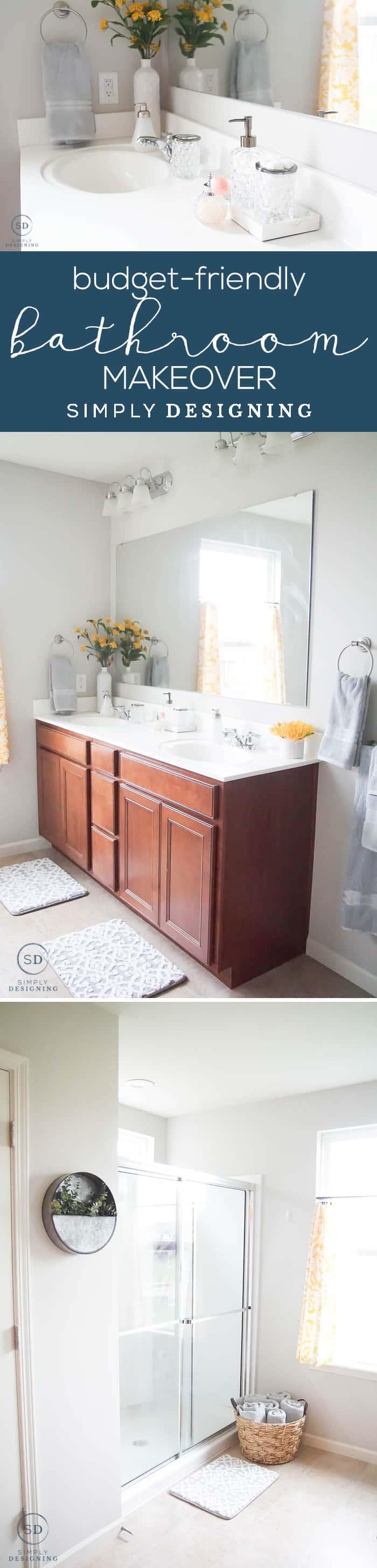how to do an afforable master bathroom makeover