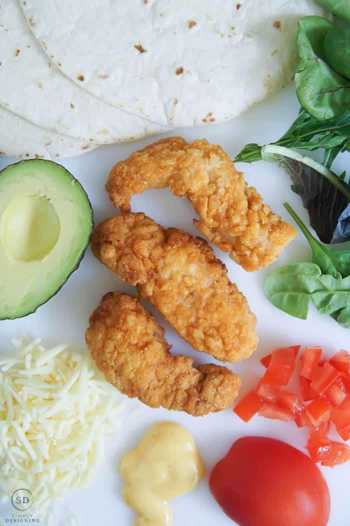 Crispy Chicken Wrap Ingredients