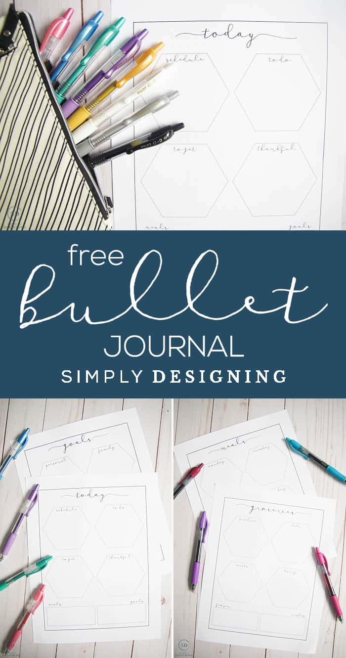 Bullet Journal Ideas and Free Journal Printable - easy and actionable bullet journal ideas and free journal printable