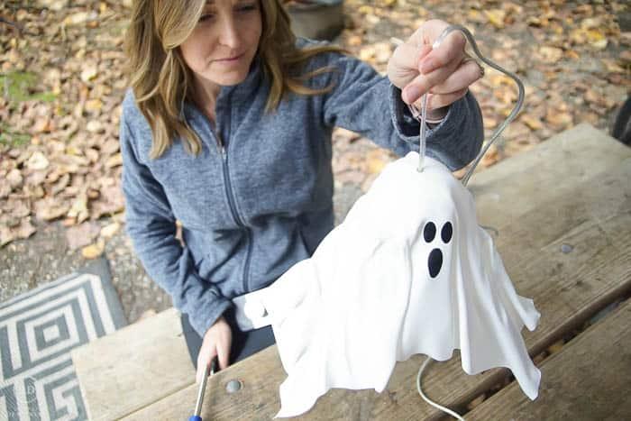 finished Hanging Ghost Lantern
