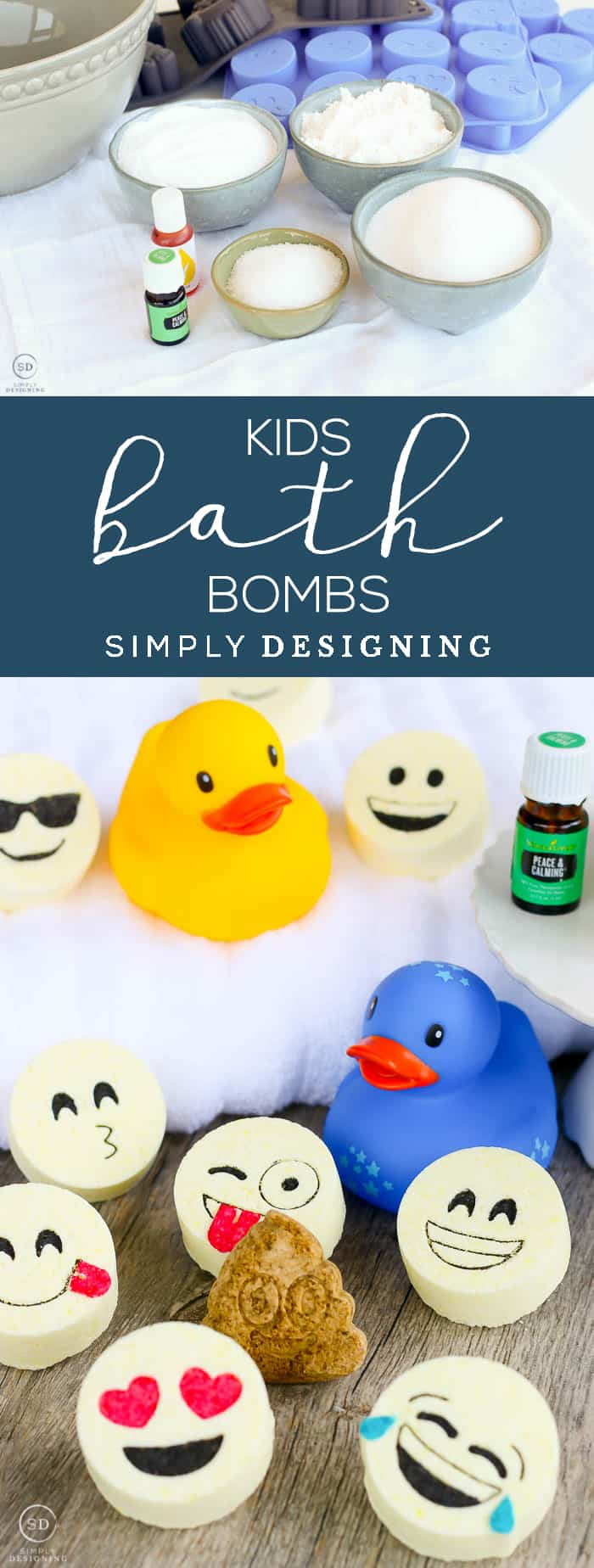 My easy bath bomb recipe shows you how to make bath bombs that are perfect for kids. Kids bath bombs that will help them feel calm!