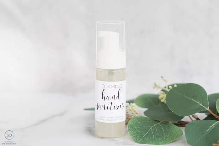 homemade foaming hand sanitizer