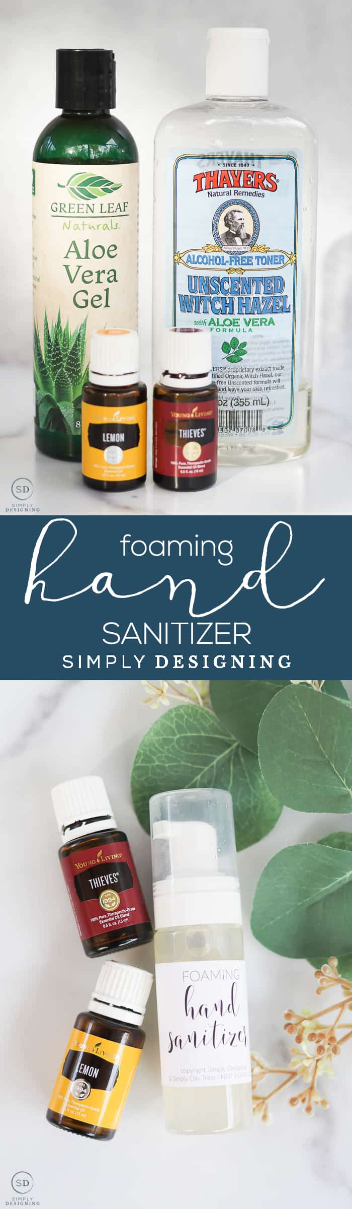 When soap and water are not available this homemade foaming hand sanitizer is an all-natural alternative - Come learn how to make foaming hand soap