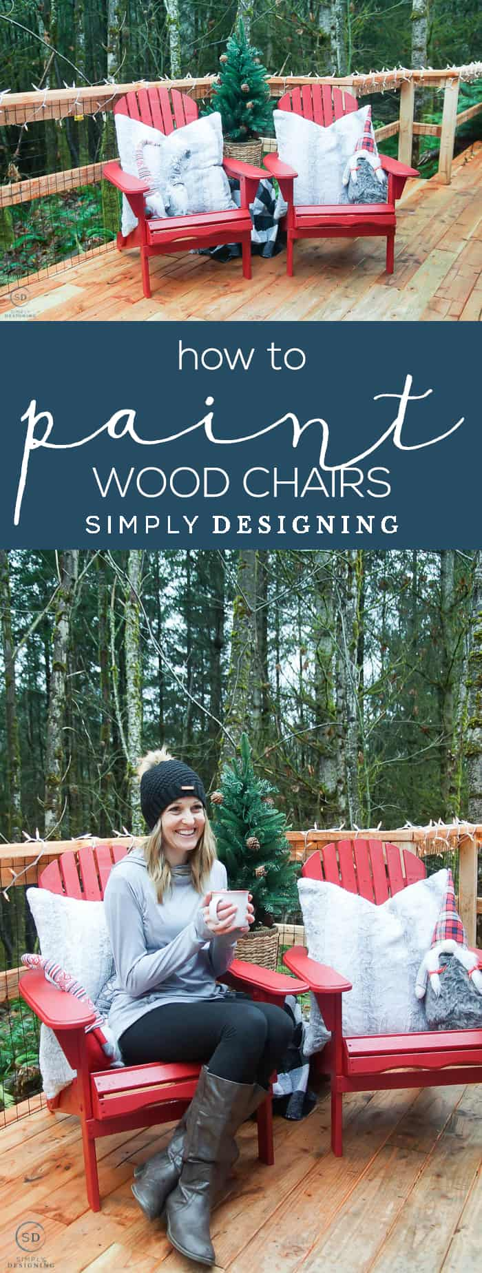 How to Paint Wood Chairs - I am sharing my tips and tricks for How to Paint Wood Chairs easily so that you can get a near-flawless result every single time