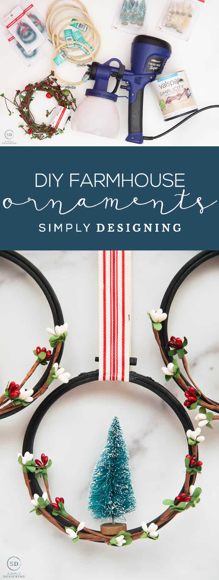 If you are looking for an easy and inexpensive way to decorate your tree this year check out this post about how to make farmhouse Christmas ornaments