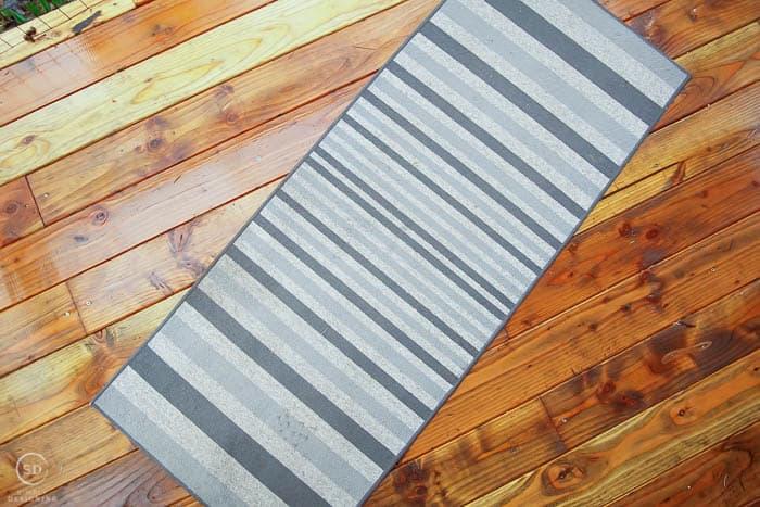 grey striped area rug
